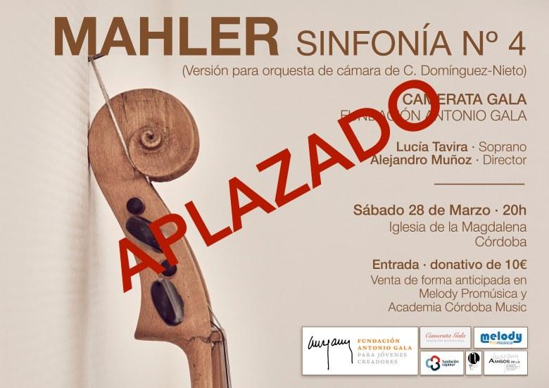 Cartel Mahler Aplazado